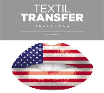 Obtisk na textil Textiltransfer I love USA