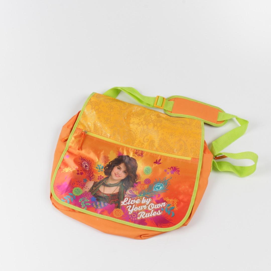 Dívčí kabelka oranžová s obrázkem
