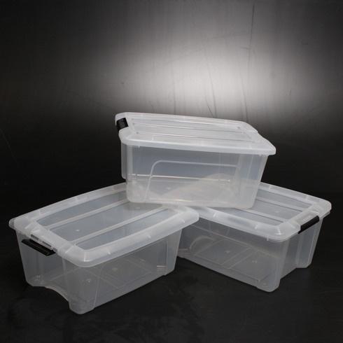 Plastové boxy s víkem Iris 103428 OHYAMA 3ks