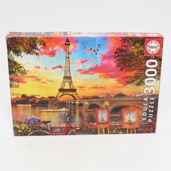 Puzzle 3000 Educa 17675 Západ slunce v Paris