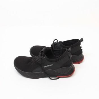 Pánské černé tenisky Fashion