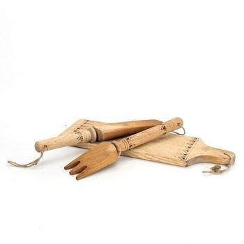 Dekorace do kuchyně dřevěná 3 dílná