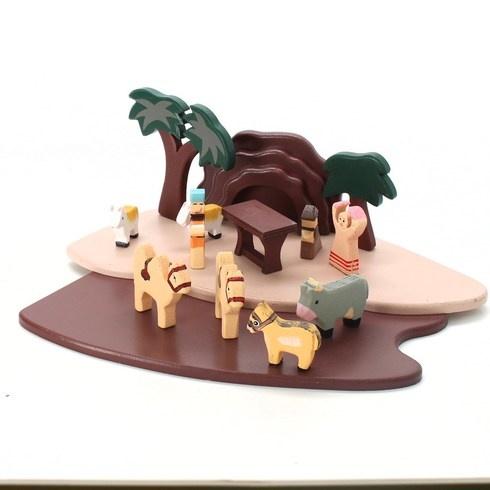 Betlém Legler s figurkami