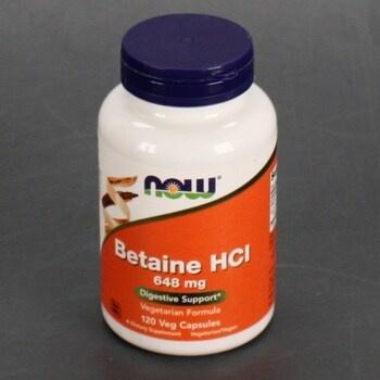 Doplněk stravy Now Betaine HCl
