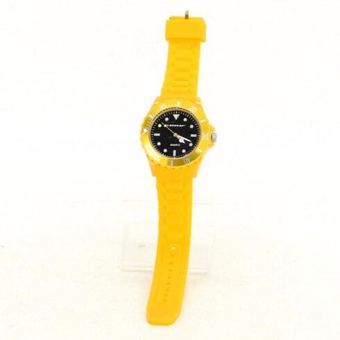 Silikonové hodinky Dunlop žluté