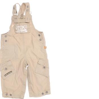 Dětské plátěné kalhoty s laclem
