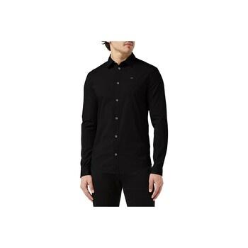 Pánská košile Tommy Jeans Slim Fit černá