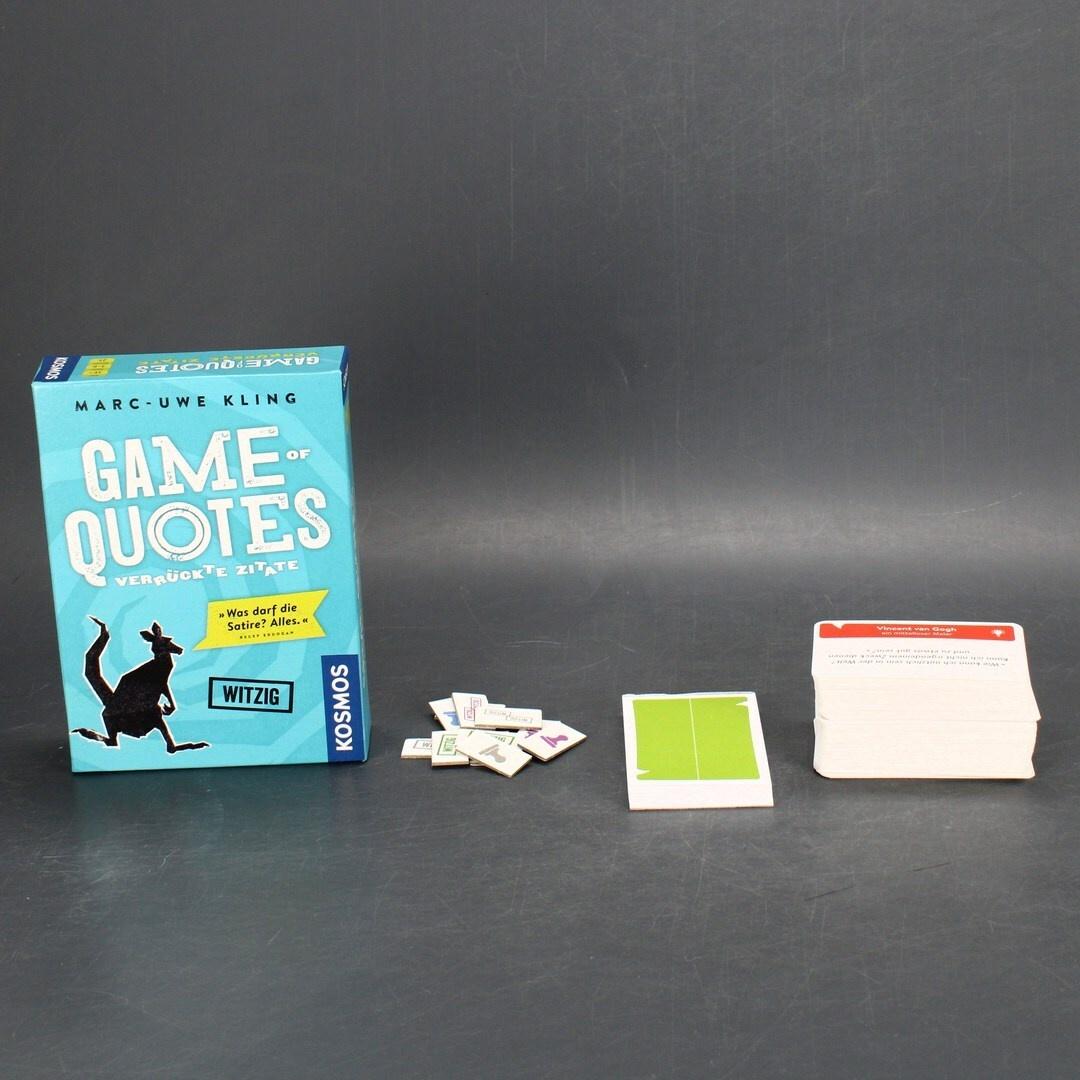 Hra Kosmos Game of Quotes