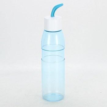 Outdoorová láhev modrá s bílým uzávěrem