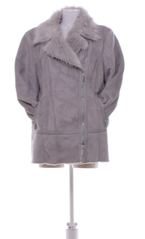 Dámský kabát F&F šedý na zip