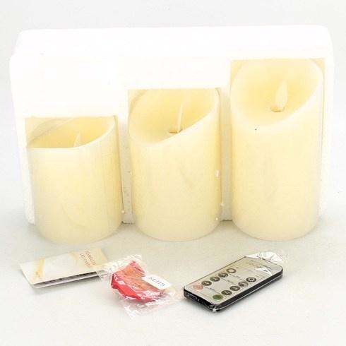 Dekorativní osvětlení 3x LED svíčka