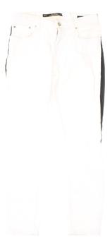 Dámské bílé džíny XXX s černým proužkem