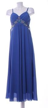Dámské plesové šaty Play modré se zdobením