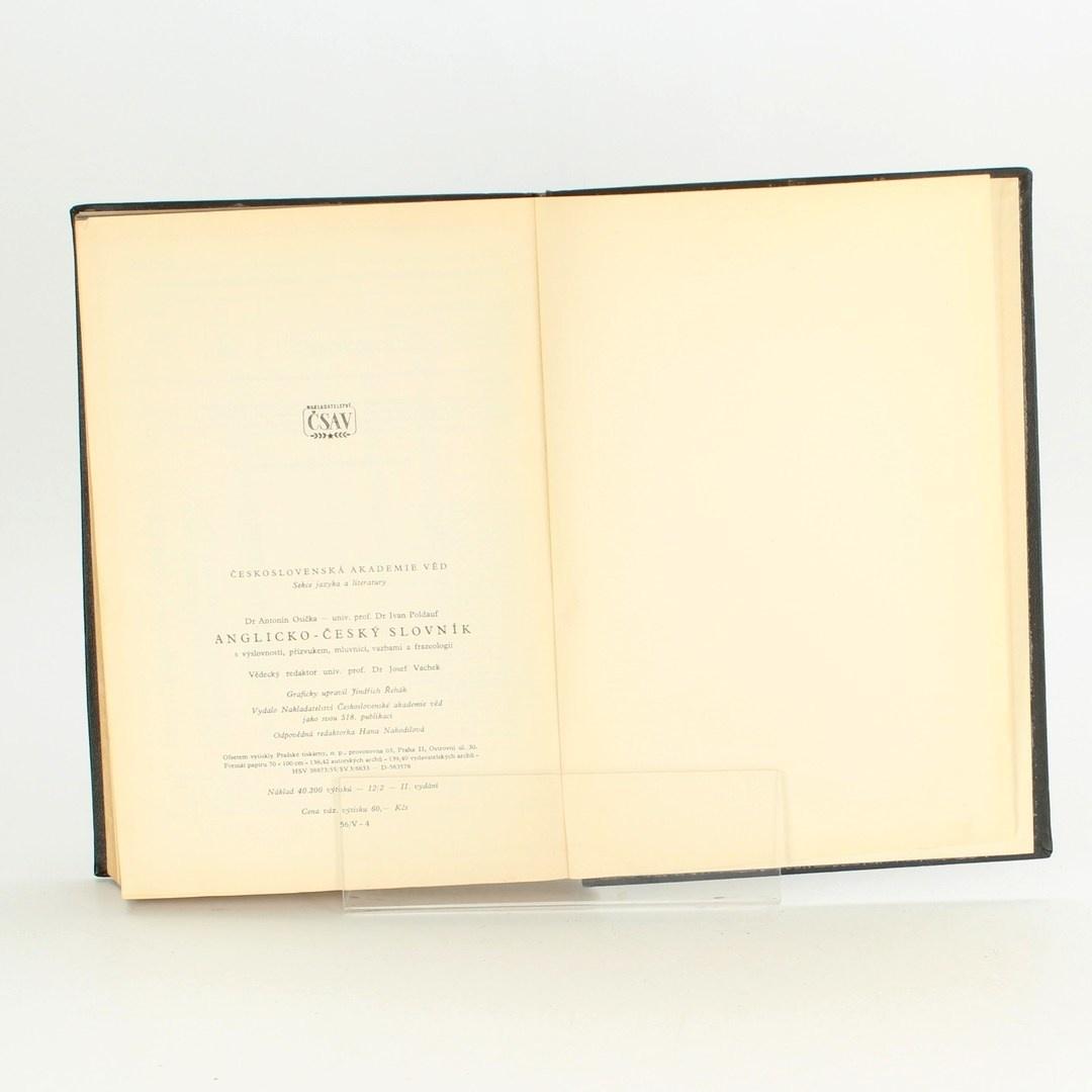 Kniha Anglicko-český slovník 1956