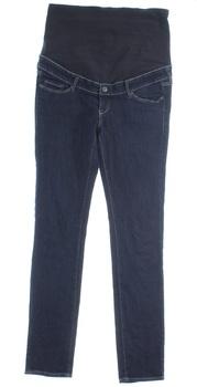 Těhotenské kalhoty dlouhé modré H&M