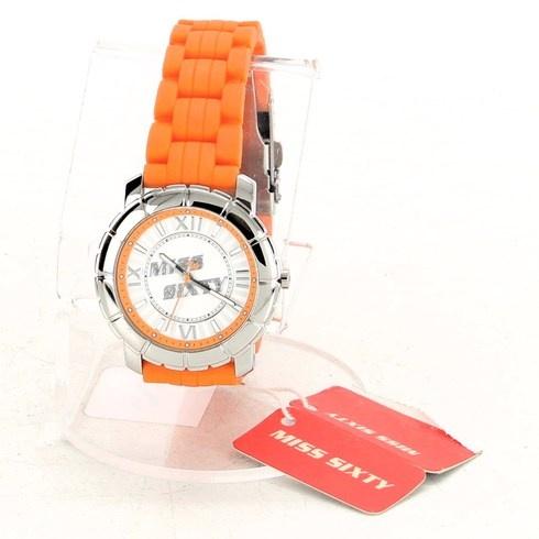 Dámské hodinky Miss Sixty oranžovostříbrné - bazar  3d20c3c38e