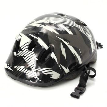 Dětská helma s černobílým potiskem