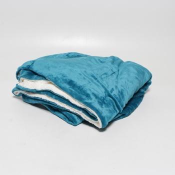 Hřejivá deka Bedsure tyrkysová