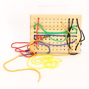 Dřevěná hračka Legler Threading Board Preschool