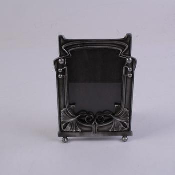Kovový fotorámeček zdobený, 12x17 cm