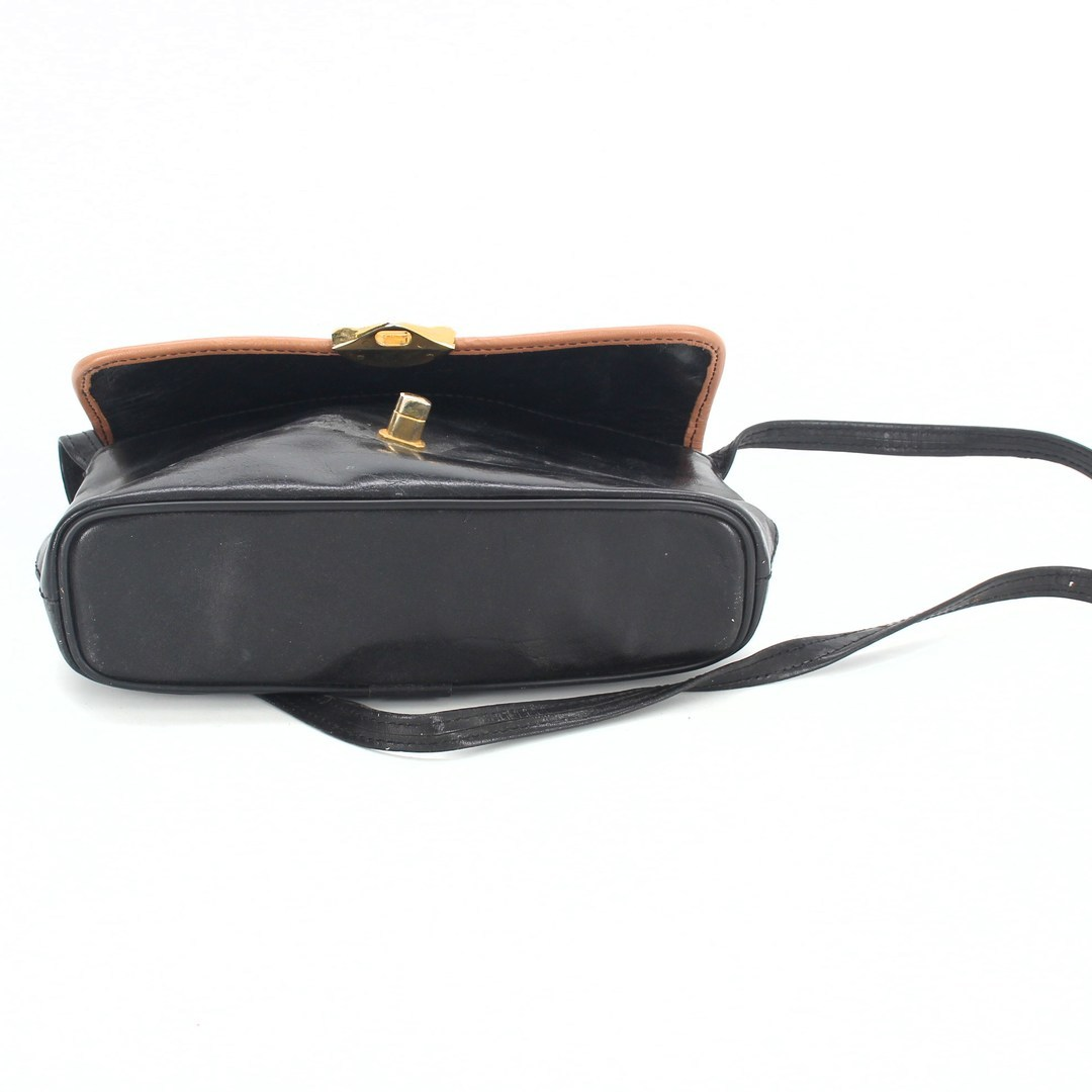 Dámská kabelka černá s hnědým okrajem