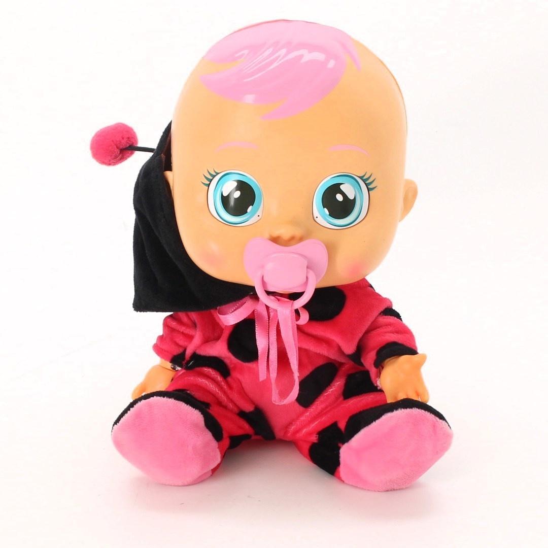 Miminko Ladybug s dudlíkem Cry Babies 96295