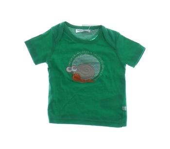 Kojenecké triko Okay zelené se šnečkem
