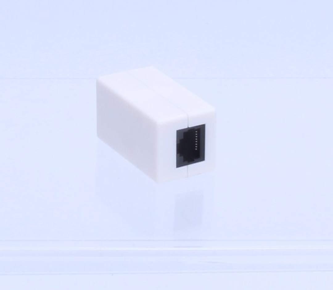 Kabelová spojka CAT5E bílá