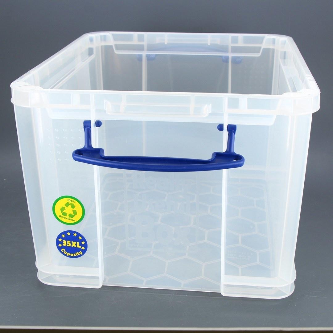 Úložné boxy plastové transparentní