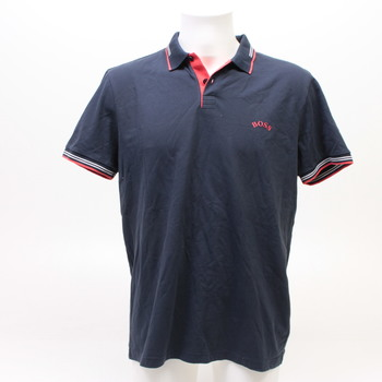 Pánské tmavě modré tričko s límečkem