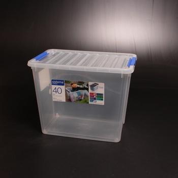 Plastový box s víkem Sistema 70400 40 l
