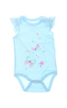 Kojenecké body Baby s potiskem motýlků