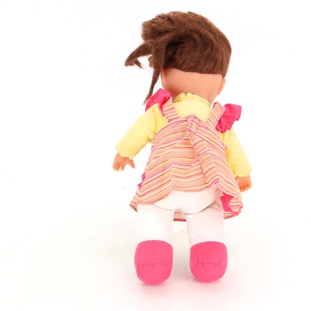 Panenka v růžových šatičkách s hnědovlasá