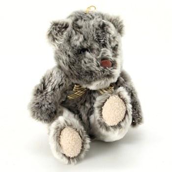 Plyšový medvídek šedý s mašličkou