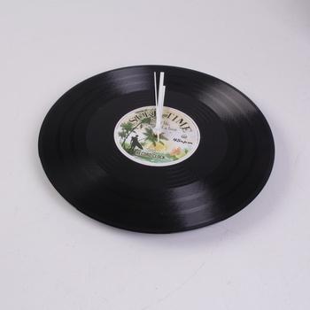 Nástěnné hodiny QUARTZ gramofonová deska