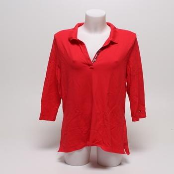 Tričko s límečkem červené Tommy Hilfiger