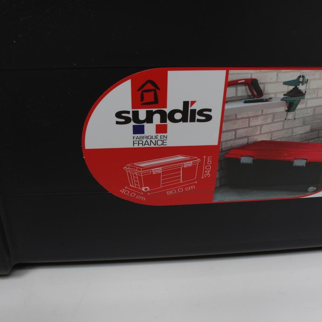Úložné boxy Sundis černé 3 ks