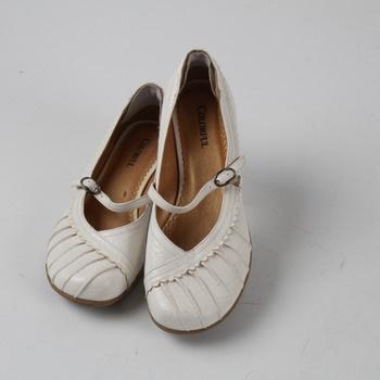 Dámské letní boty Colorful bílé