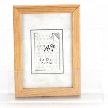 Dřevěný fotorámeček 9x13cm