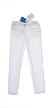 Dívčí plátěné kalhoty Geox bílé
