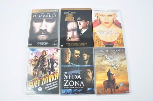 6x DVD - Ned Kelly, Tanec s vlky a další