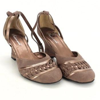 Dámské sandále Fashion World hnědé 9b89a336fc8