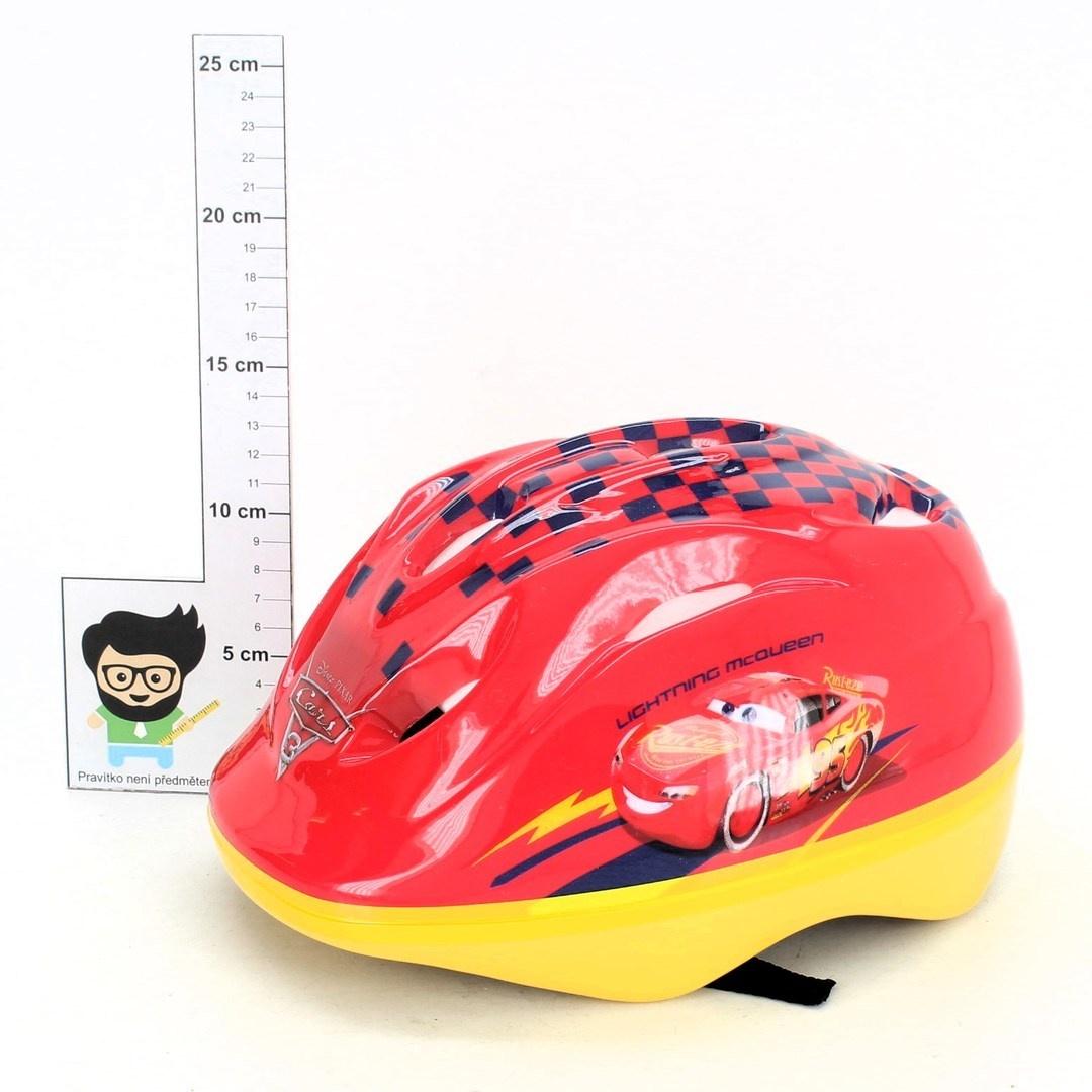 Dětská helma Disney Auta červená