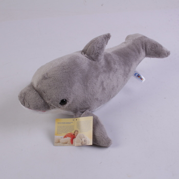 Plyšový delfín Heunec šedý