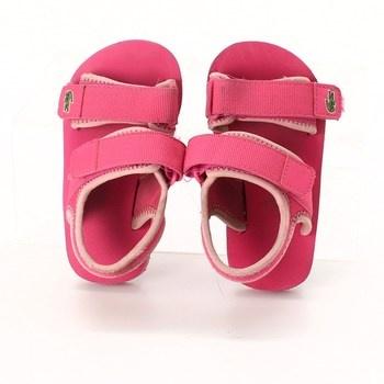 Dívčí sandálky Lacoste růžové