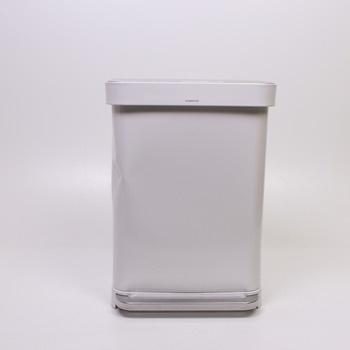 Pedálový odpadkový koš Simplehuman bílá ocel