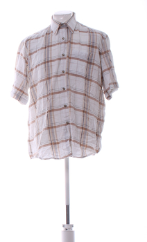 Pánská kostkovaná košile Vesta bílá