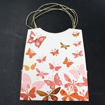 Papírová dárková taška 3D BUTTERFLY