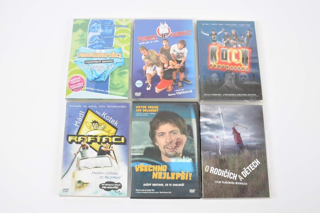 6x DVD - Snowboarďáci, Rafťáci a další