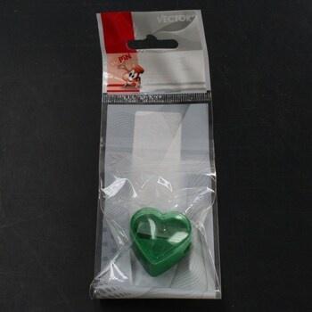 Ořezávátko ve tvaru srdce zelené